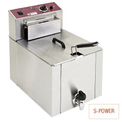 Friteuse de table el.  S-POWER  12L + robinet