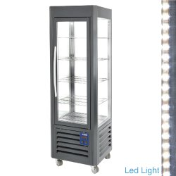 Vitrine panoramique vent. 360L Anthracite