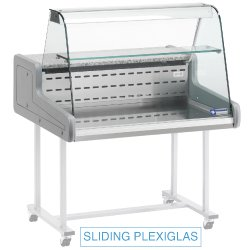 Comptoir réfrigéré vitre bombée