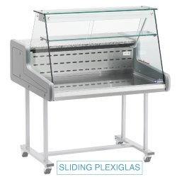 Comptoir réfrigéré, vitre droite