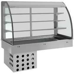 Elément top/vitrine réfrigéré, venT., 4xGN1/1