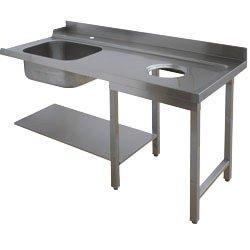 TABLE ENTRÉE ÉVIER 500x500, + V. DÉCH. EN.GX