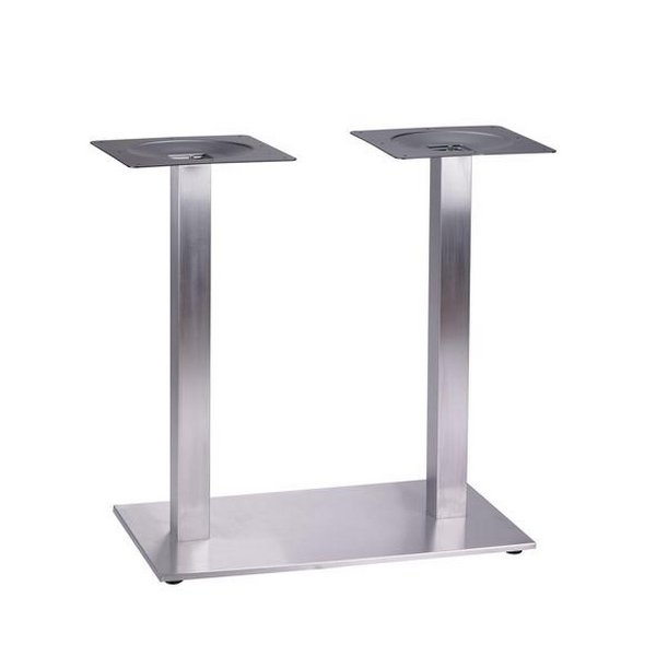 Pied double tetra inox pieds de table mobilier terrasse for Table de cuisine inox