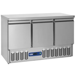 TABLE FRIGO. COMPACT 3 PORTES GN1/1 380L.